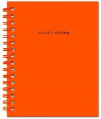 Bullet Journal (Оранжевый) 162x210мм, твердая обложка, пружина, блокнот в точку, 120 стр