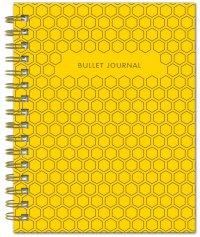 Bullet Journal (Желтый) 162x210мм, твердая обложка, пружина, блокнот в точку, 120 стр