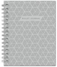 Bullet Journal (Серый) 162x210мм, твердая обложка, пружина, блокнот в точку, 120 стр