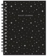Bullet Journal (Черный) 162x210мм, твердая обложка, пружина, блокнот в точку, 120 стр