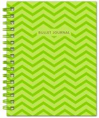 Bullet Journal (Зеленый) 162x210мм, твердая обложка, пружина, блокнот в точку, 120 стр