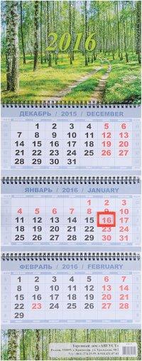 Календарь 2016 (на спирали). Березовая роща