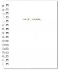 Bullet Journal (Белый) 162x210мм, твердая обложка, пружина, блокнот в точку, 120 стр