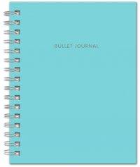 Bullet Journal (Бирюзовый) 162x210мм, твердая обложка, пружина, блокнот в точку, 120 стр